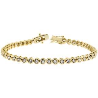 Eternally Haute Goldplated Bezel-set 6.6ct TGW Cubic Zirconia Tennis Bracelet