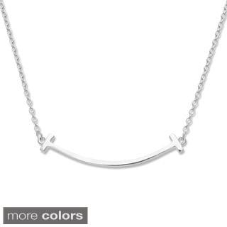 La Preciosa Sterling Silver Curved Bar Necklace
