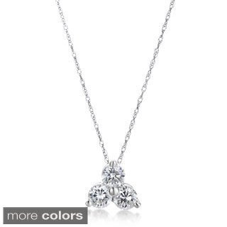 SummerRose 14k Gold 1/2ct TDW 3-stone Diamond Pendant