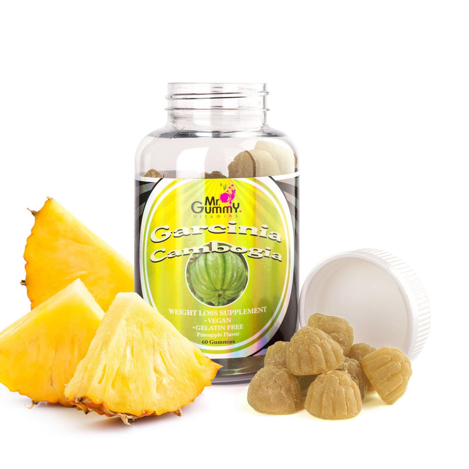 Shop Mr Gummy Pineapple Flavor Garcinia Cambogia Gummies