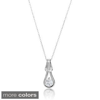 SummerRose 14k Gold 1/4ct TDW Diamond Knot Necklace