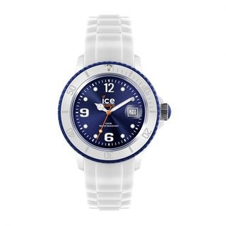 Ice Unisex SI.WB.U.S.11 White/ Dark Blue Watch