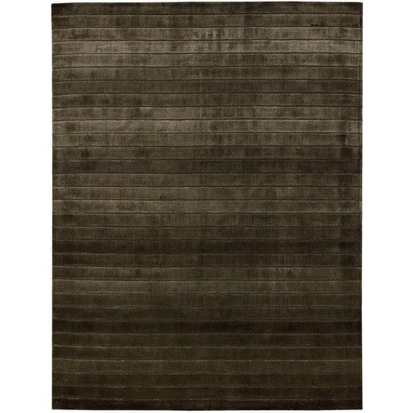 Hand-woven Nourison Aura Chocolate Area Rug - 9'6 x 13'