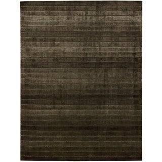 Hand-woven Nourison Aura Chocolate Area Rug (9'6 x 13')