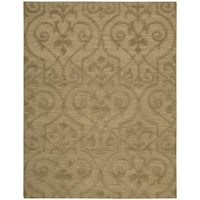 Hand-woven Nourison Ambrose Khaki Area Rug (8'6 x 11'6) - 8'6 x 11'6
