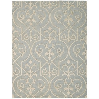 Hand-knotted Nourison Ambrose Blue Area Rug (9'9 x 13'9)