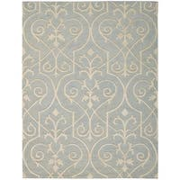 Hand-knotted Nourison Ambrose Blue Area Rug - 9'9 x 13'9
