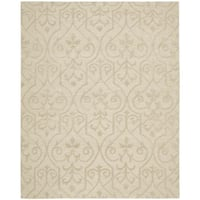 Hand-knotted Nourison Ambrose Sand Area Rug (7'9 x 9'9)