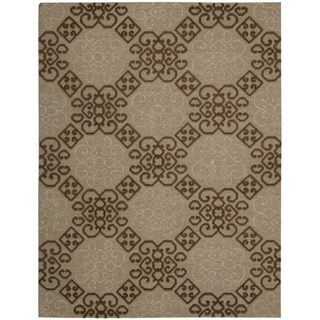 Hand-knotted Nourison Ambrose Almond Area Rug (8'6 x 11'6)