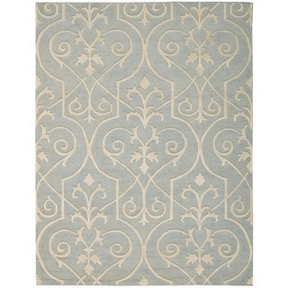 Hand-knotted Nourison Ambrose Blue Area Rug (5'6 x 7'5)