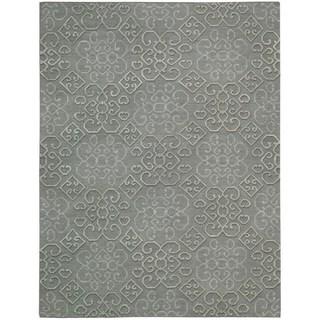Hand-knotted Nourison Ambrose Slate Area Rug (5'6 x 7'5)