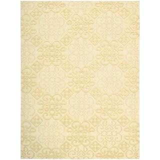 Hand Woven Nourison Ambrose Linen Area Rug (5'6 x 7'5)