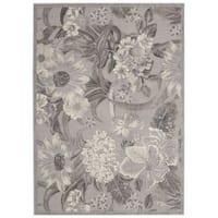 Nourison Graphic Illusions Grey Floral Area Rug