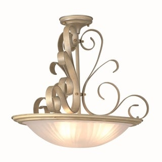 Lite Source Variance 3-light Semi-flush Mount
