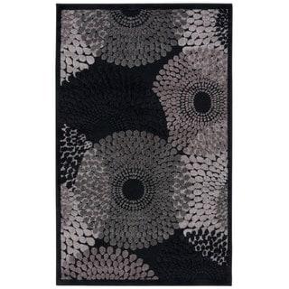 Nourison Graphic Illusions Black Geometric Rug (2'3 x 3'9)