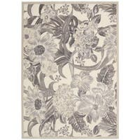 Nourison Graphic Illusions Ivory Floral Rug (7'9 x 10'10)