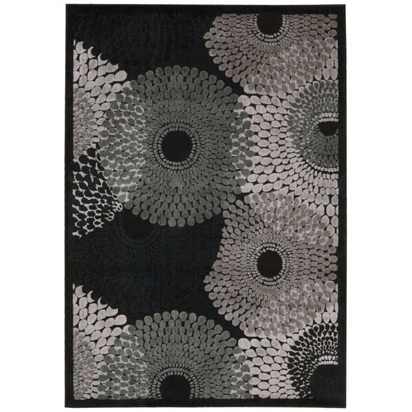 Black And White Geometric Rugs For Sale: Shop Nourison Graphic Illusions Black Geometric Rug
