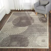 Nourison Graphic Illusions Grey Geometric Rug - 7'9 x 10'10