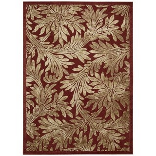 Nourison Graphic Illusions Red Rug (7'9 x 10'10)
