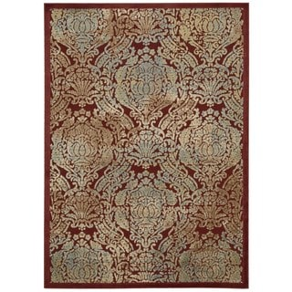 Nourison Graphic Illusions Red Graphic Rug (5'3 x 7'5)