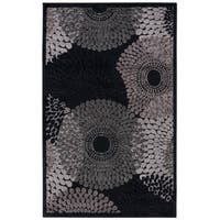 Nourison Graphic Illusions Black Geometric Rug