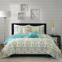 Intelligent Design Ellie Green Coverlet Set