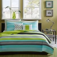 Intelligent Design Jesse Teal Coverlet Set