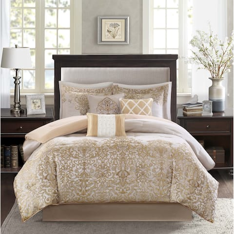 Madison Park Shauna Gold 7-Piece Comforter Set