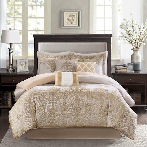 Madison Park Shauna Gold 7-Piece Comforter Set