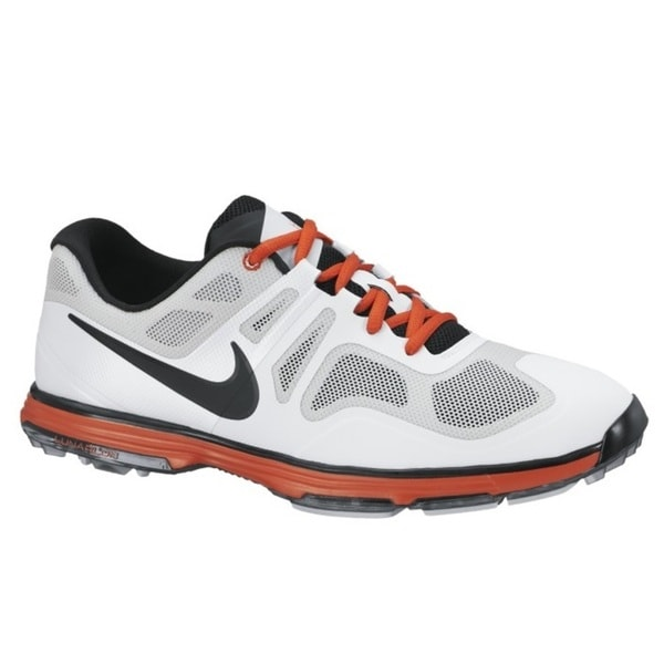 Nike Men's Lunar Ascend II Light Grey/ Black/ White/ Orange Golf Shoes