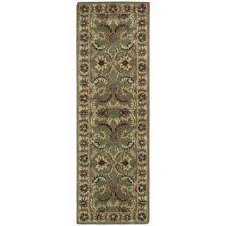 Nourison India House Green Runner Rug (2'3 x 7'6)