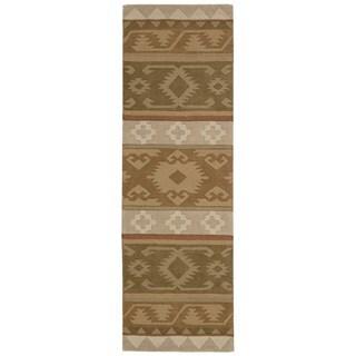 Nourison India House Camel Print Rug (2'3 x 7'6)