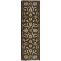 Nourison India House Charcoal Oriental Rug - 2'3 x 7'6