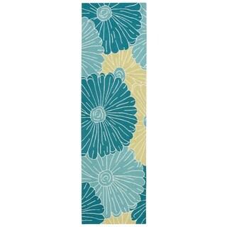 Nourison Fantasy Seafoam Floral Rug (2'3 x 8')