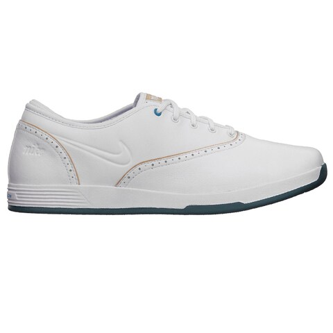 Nike Womens Lunar Duet Classic White/ Tan Golf Shoes