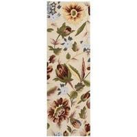 """Nourison Fantasy Ivory Floral Rug (2'3 x 8') - 2'3""""x 8'"""