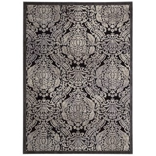 Nourison Graphic Illusions Black Graphic Rug (7'9 x 10'10)