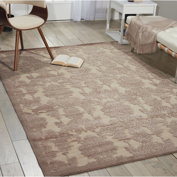 Nourison Graphic Illusions Ivory/ Latte Graphic Rug (7'9 x 10'10) - 7'9 x 10'10