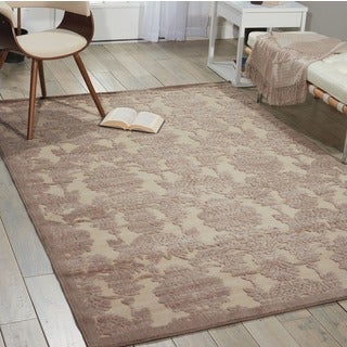 Nourison Graphic Illusions Ivory/ Latte Graphic Rug (7'9 x 10'10)