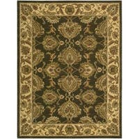 Hand-knotted Nourison India House Green Rug (8' x 10'6)
