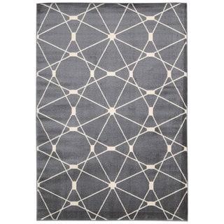 Hand-knotted Nourison Nova Grey Rug (3'11 x 5'3)
