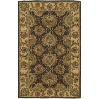 Hand-knotted Nourison India House Green Rug (3'6 x 5'6)