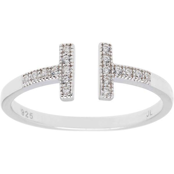 La Preciosa Sterling Silver Double T Ring. Opens flyout.