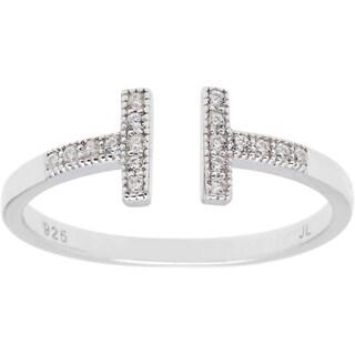 La Preciosa Sterling Silver Double T Ring