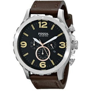 Fossil Men's JR1475 Nate Brown Leather Watch