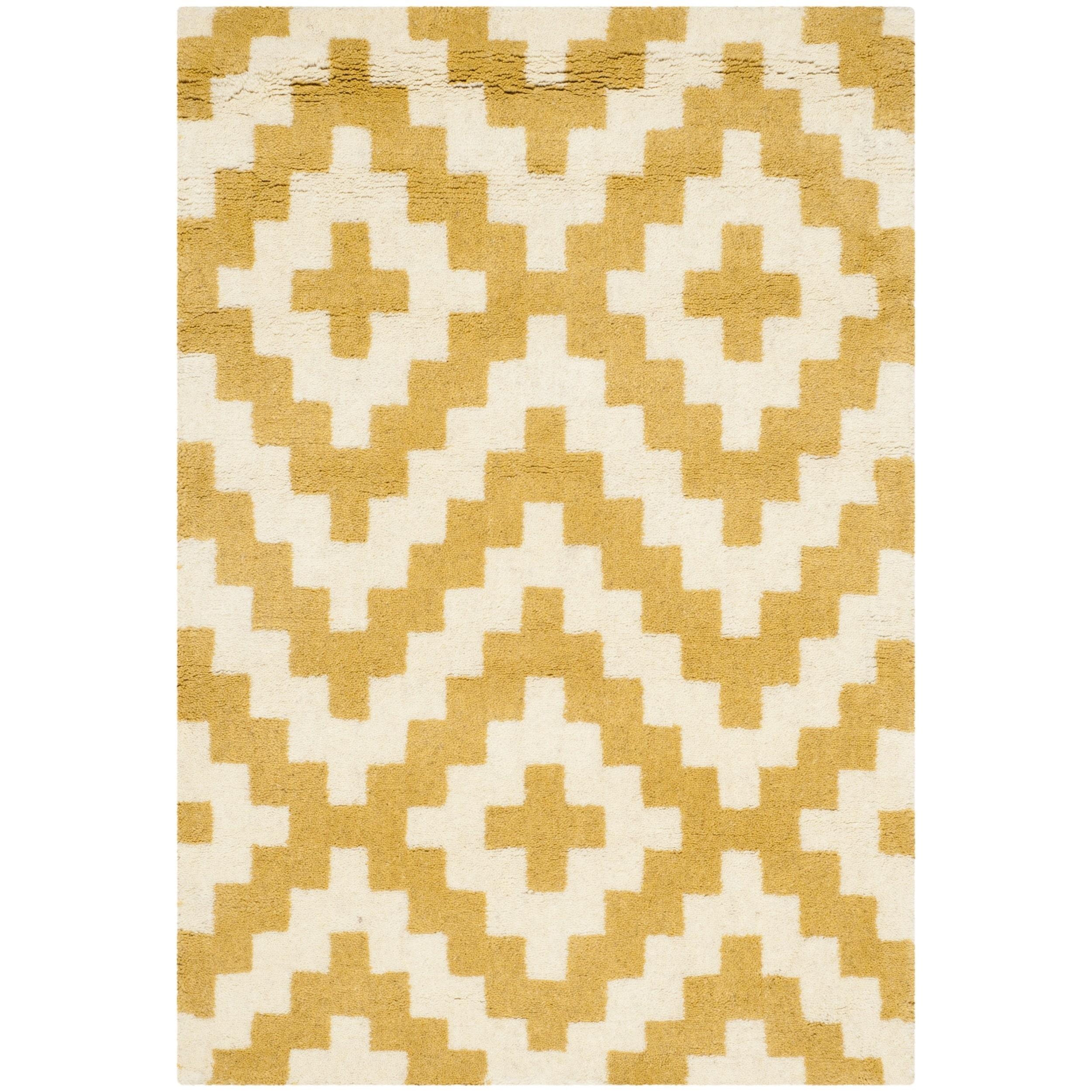 Safavieh Handmade Cambridge Ivory/ Gold Wool Rug (2' x 3'...