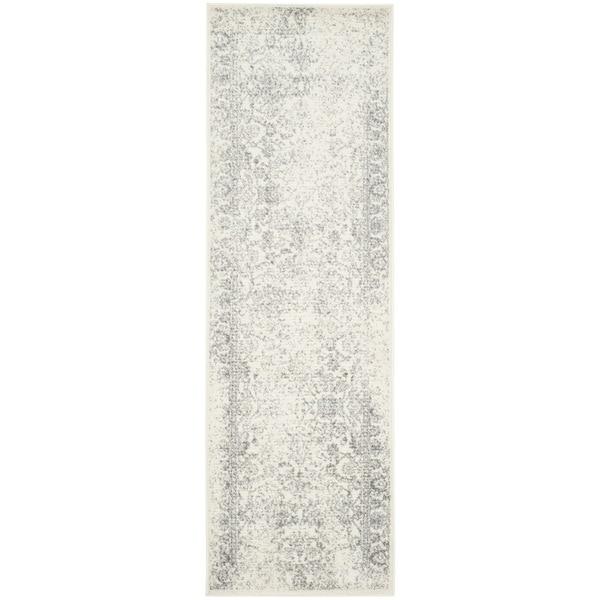 Safavieh Adirondack Vintage Distressed Ivory / Silver Rug (2'6 x 6')