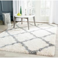 Safavieh Montreal Shag Ivory/ Grey Polyester Rug (3' x 5') - 3' x 5'