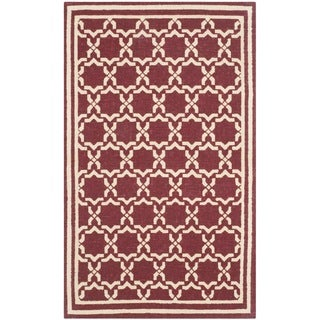 Safavieh Handmade Cedar Brook Red/ Ivory Jute Rug (2'3 x 3'9)