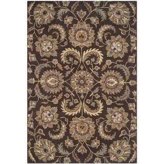 Safavieh Handmade Heritage Timeless Traditional Brown/ Gold Wool Rug (4' x 6')